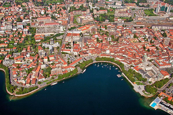 Fotografia aerea Lecco, Lago di Como